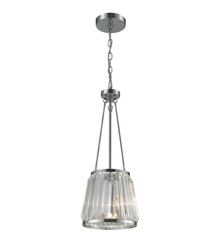 ELK Lighting Vienna 1 Light Pendant in Polished Chrome 31191/1 photo
