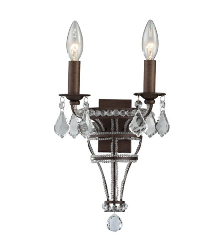 ELK Lighting Chaumont 2 Light Wall Sconce in Mocha 31201/2 photo