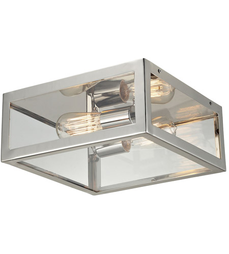 ELK 31211/2 Parameters-Nickel 2 Light 12 inch Polished Chrome Semi-Flush Mount Ceiling Light photo