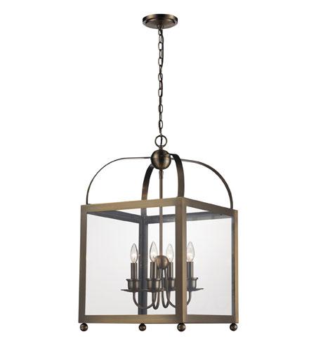 Antique Foyer Lighting : Elk lighting tindale light foyer pendant in brushed