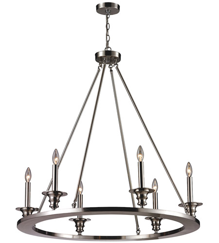 ELK 31225/6 Port Solerno 6 Light 36 inch Satin Nickel Chandelier Ceiling Light photo