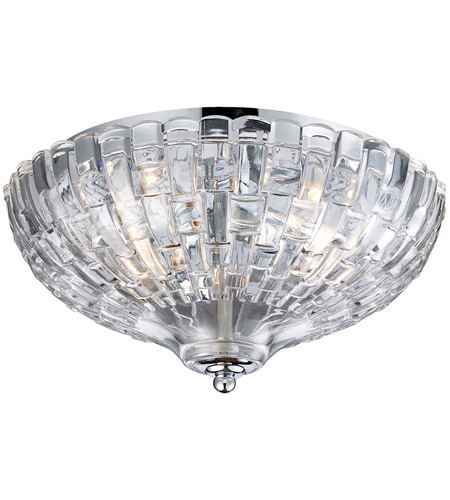 ELK 31240/2 Crystal 2 Light 12 inch Polished Chrome Flush Mount Ceiling Light photo