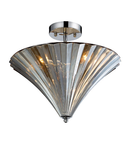 ELK Lighting Crystal 3 Light Flush Mount in Polished Chrome 31253/3 photo