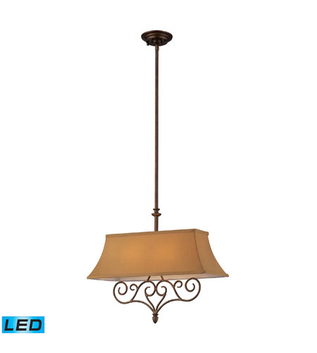 ELK Lighting Linear 2 Light Billiard/Island In Mocha 31255