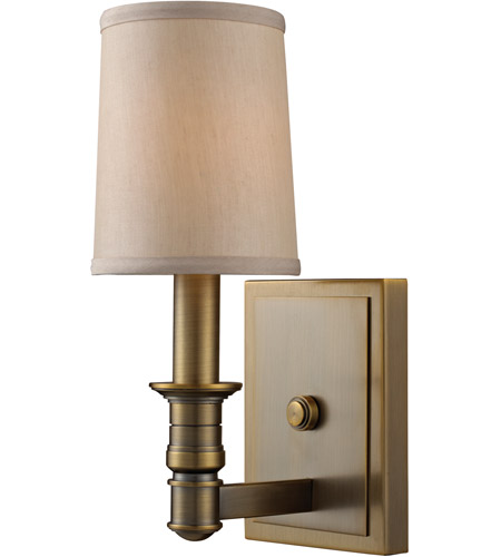 Elk 312601 baxter 1 light 5 inch brushed antique brass wall sconce elk 312601 baxter 1 light 5 inch brushed antique brass wall sconce wall light aloadofball Choice Image