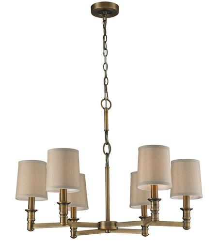 Elk 31266 6 Baxter Light 29 Inch Brushed Antique Br Chandelier Ceiling