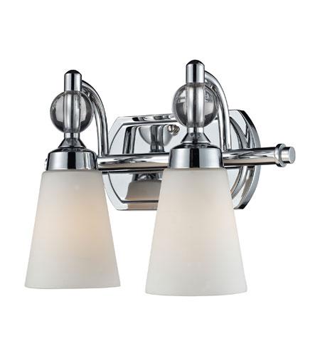 Elk lighting martina 2 light bath bar in polished chrome for Elk bathroom lighting