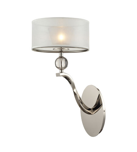 Elk 31290 1 Corisande Light 8 Inch Polished Nickel Wall Sconce Photo