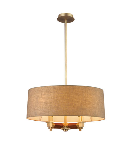 ELK Lighting Jorgenson 4 Light Chandelier in Satin Brass 31325/4 photo