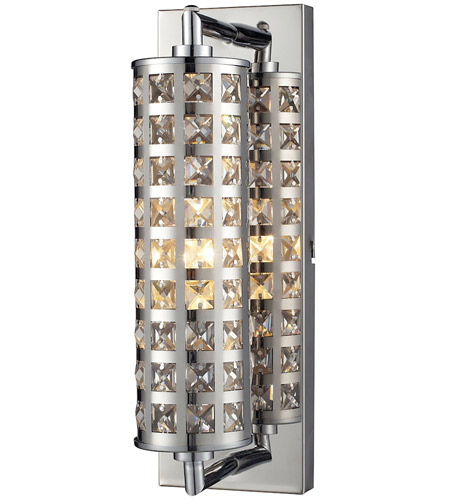 ELK Lighting Crystallure 1 Light Bath Bar in Polished Chrome 31346/1 photo