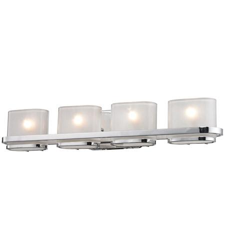 Elk lighting bismark 4 light bath bar in polished chrome for Elk bathroom lighting