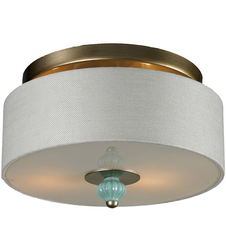ELK 31361/2 Lilliana 2 Light 14 inch Aged Silver Semi-Flush Mount Ceiling Light photo