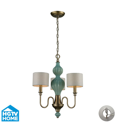ELK Lighting Lilliana 3 Light Chandelier in Aged Silver with Recessed Conversion Kit 31363/3-LA photo