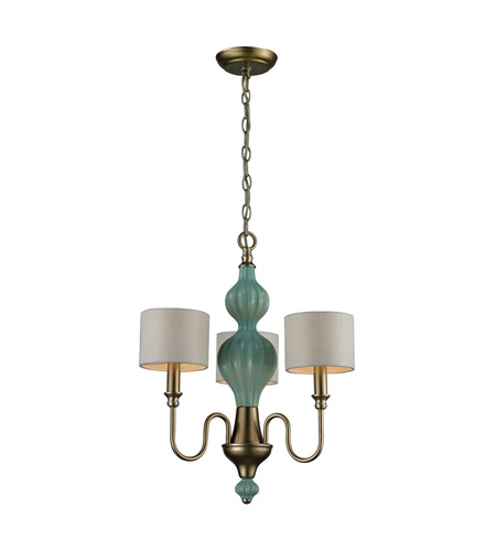 ELK Lighting Lilliana 3 Light Chandelier in Aged Silver 31363/3 photo
