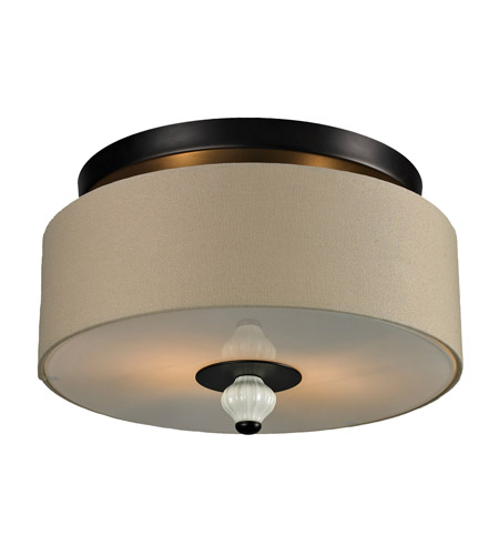 ELK Lighting Lilliana 2 Light Semi Flush in Aged Bronze 31371/2 photo