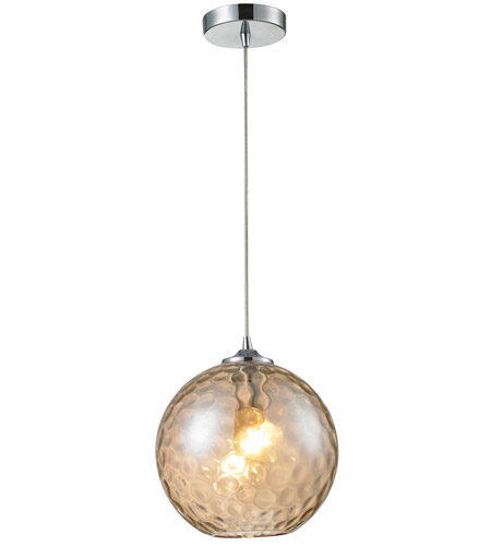 ELK 31380/1CMP Watersphere 1 Light 10 inch Polished Chrome Pendant Ceiling Light in Champagne photo