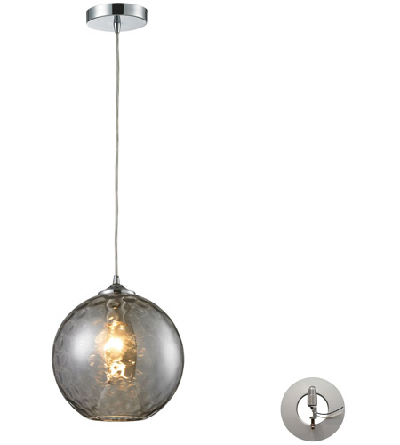 Elk 313801smk la watersphere 1 light 10 inch polished chrome elk 313801smk la watersphere 1 light 10 inch polished chrome pendant ceiling light in smoke glass recessed adapter kit mozeypictures Image collections