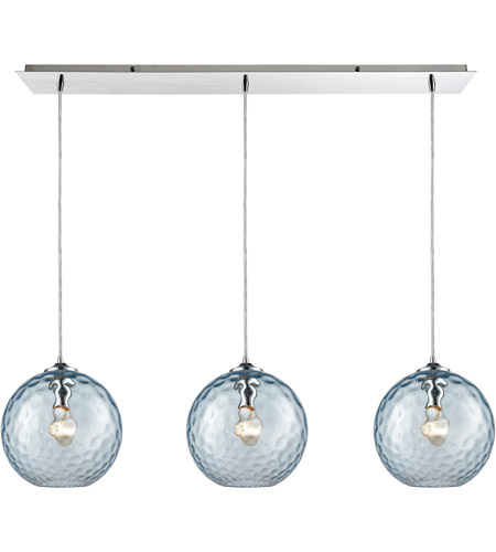 Elk 31380 3lp Aq Watersphere 3 Light 36 Inch Polished Chrome Pendant Ceiling
