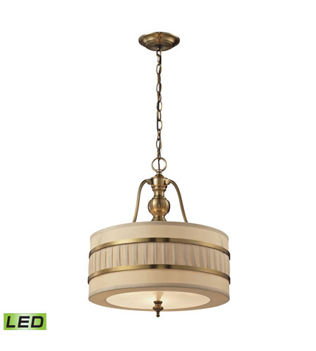 Led Ceiling Lights Antique Brass : Elk led luxembourg inch brushed antique