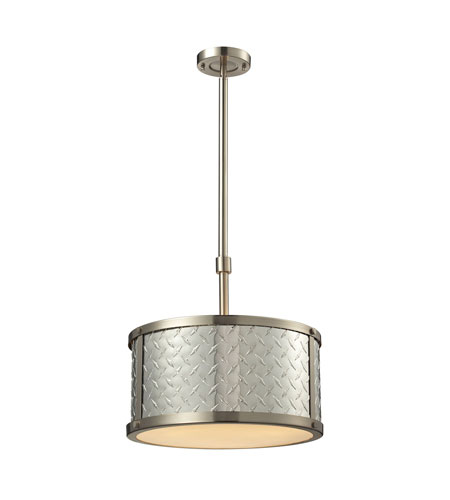 Elk Diamond Plate Light Inch Brushed Nickel Pendant