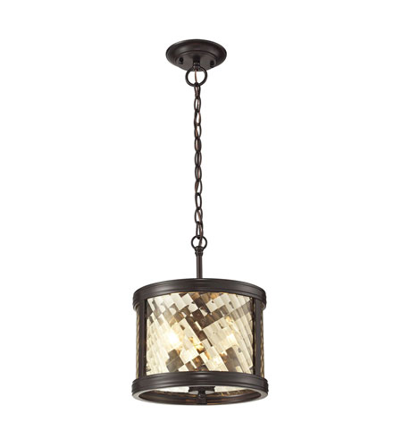 Superb ELK 31451/3 Chandler 3 Light 11 Inch Oil Rubbed Bronze Pendant Ceiling Light
