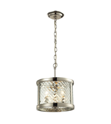 Chandler 3 Light 11 Inch Polished Nickel Pendant Ceiling