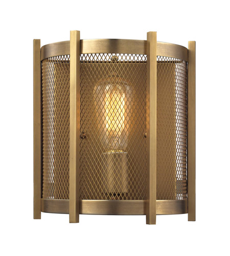 Elk 31480 1 Rialto 1 Light 8 Inch Aged Brass Wall Sconce