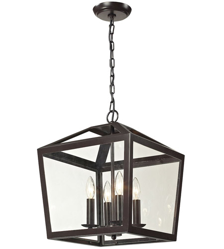 elk alanna 4 light 14 inch oil rubbed bronze pendant ceiling light - Bronze Pendant Light
