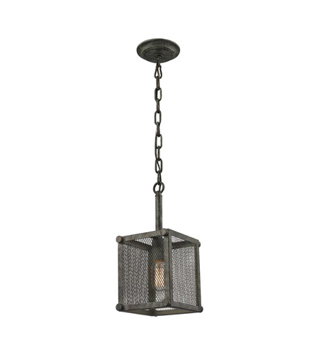 ELK Lighting Perry 1 Light Pendant in Malted Rust with Wire Mesh Shade 31510/1