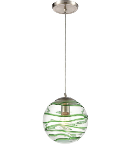 Vaxcel P0078 8-Inch Mini Pendant Polished Nickel