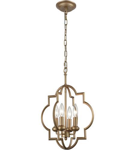 elk chandette 4 light 14 inch matte gold chandelier ceiling light