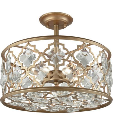 Elk Lighting Garriston: ELK 32092/4 Armand 4 Light 17 Inch Matte Gold Semi Flush