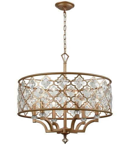 Elk 320976 armand 6 light 24 inch matte gold chandelier ceiling light mozeypictures Choice Image