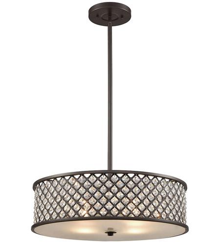 Genevieve 4 Light 21 Inch Oil Rubbed Bronze Chandelier Ceiling