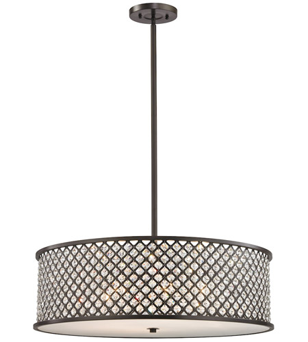 elk genevieve 6 light 29 inch oil rubbed bronze chandelier ceiling light