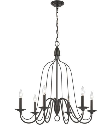 elk monroe 6 light 30 inch oil rubbed bronze chandelier ceiling light