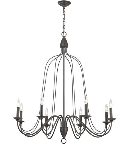 elk monroe 8 light 40 inch oil rubbed bronze chandelier ceiling light