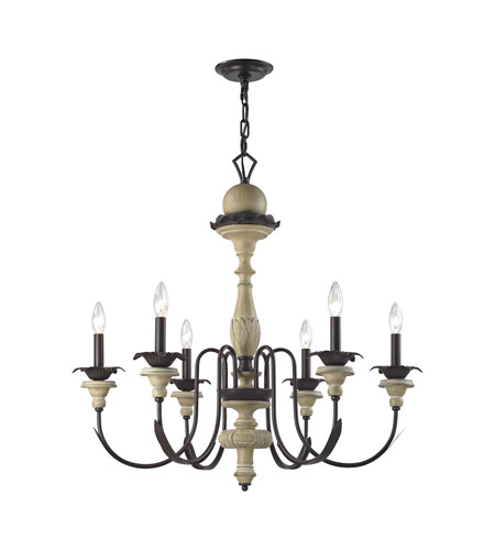 elk channery point 6 light 30 inch oil rubbed bronzeaged cream chandelier ceiling light
