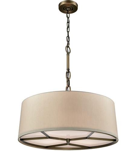 ELK 32264/4 Baxter 4 Light 21 Inch Brushed Antique Brass Chandelier Ceiling  Light
