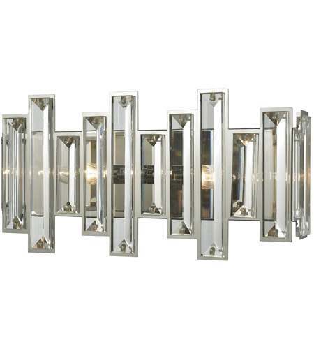 separation shoes 9835e 87fdb ELK 33010/2 Crystal Heights 2 Light 16 inch Polished Chrome Vanity Light  Wall Light