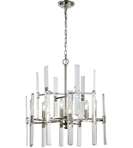 Elk 330326 crystal heights 6 light 23 inch polished nickel elk 330326 crystal heights 6 light 23 inch polished nickel chandelier ceiling light aloadofball Choice Image