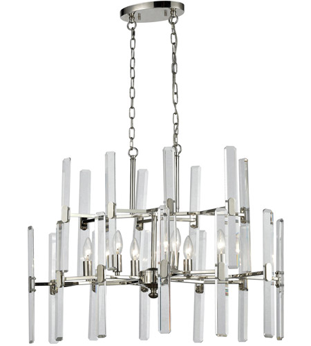 Elk 330336 crystal heights 6 light 30 inch polished nickel elk 330336 crystal heights 6 light 30 inch polished nickel chandelier ceiling light aloadofball Choice Image