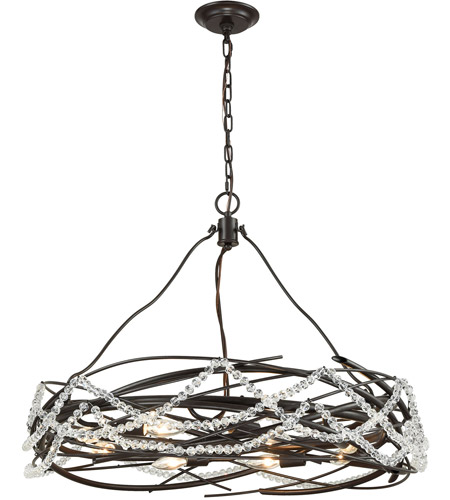 ELK 33056/8 Nestled 8 Light 30 inch Oil Rubbed Bronze Pendant Ceiling Light photo thumbnail