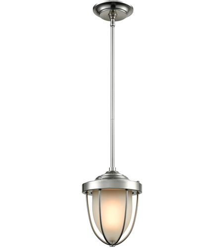 ELK 33110/1 Sturgis 1 Light 7 inch Satin Nickel Mini Pendant Ceiling Light photo thumbnail