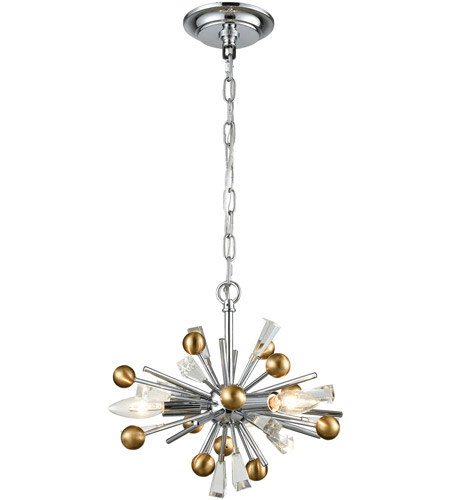 ELK 33251/3 Williston 3 Light 13 inch Polished Chrome with Satin Brass Pendant Ceiling Light photo thumbnail