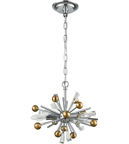 ELK 33251/3 Williston 3 Light 13 inch Polished Chrome with Satin Brass Pendant Ceiling Light alternative photo thumbnail