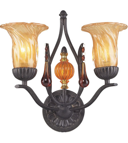 ELK Lighting Provenzia 2 Light Sconce in Dark Rust 3592/2 photo