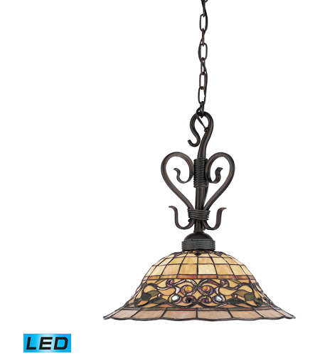 ELK 362-VA-LED Tiffany Buckingham LED 16 inch Vintage Antique Pendant Ceiling Light  sc 1 st  ELK Lighting & ELK 362-VA-LED Tiffany Buckingham LED 16 inch Vintage Antique ...