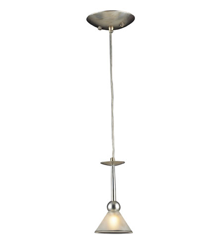 ELK Lighting Martini Glass 1 Light Pendant in Silver Leaf 3651/1 photo