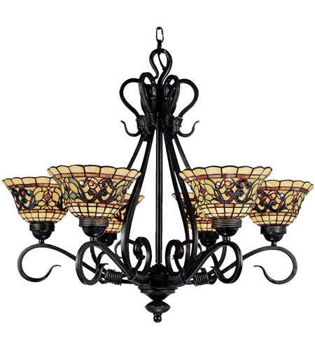 Tiffany Buckingham 6 Light 28 Inch Vintage Antique Chandelier Ceiling